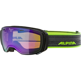 Alpina Estetica MM Goggle black matt green spherical